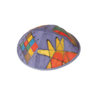 Multicolored Tribes Silk Painted Kippah