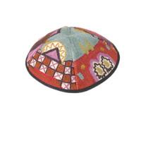 Multicolor Jerusalem Hand Embroidered Kippah