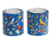 Emanuel Hand Painted Candlesticks