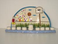 Basketball Ceramic Menorah