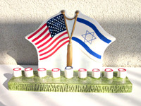 Flag Ceramic Menorah
