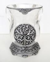 Acrylic Washing Cup Silver (WC-AVI566S)