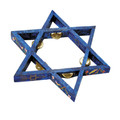 Painted Star of David Tambourine