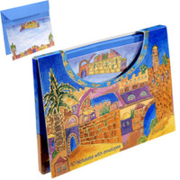 Jerusalem View Notelets and Envelopes with Case (Size Large)
