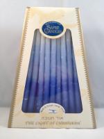 Sefad - Decorative Blue Israeli Chanukah Candles