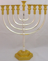"Mikdash 16"" Silver & Gold Menorah (M-216-SG)"