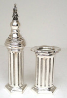 Silver Dipped Havdala Set - Pillar Design