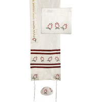 Embroidered Raw Silk Tallit