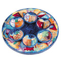 Yair Emanuel wood seder plate - keara with bowls