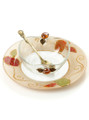 Lily Art Glass Honey Dish (HD-507575-A)