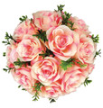 """8"""" Rose Ball with leaves"""
