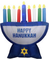 Inflatable Menorah Decoration with LED Lights - 7ft
