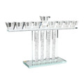 "Crystal ""Pillars"" Menorah"