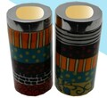 "Hadarya Hand Painted Candlesticks 5""-Colorful"