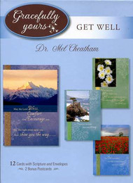 12 card collection of inspiraitonal get well cards with Mel Cheatham