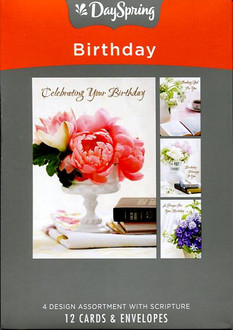 12 DaySpring boxed birthday cards