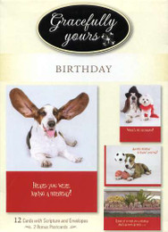12 Gracefully Yours boxed birthday cards