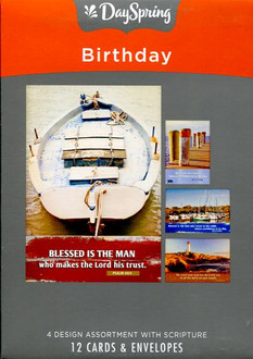 DaySpring Masculine Birthday Cards - Nautical