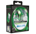 Philips H4 60/55w ColorVision Green Car Headlight Bulbs (Twin Pack)