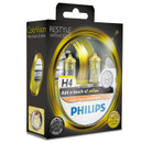Philips H4 60/55w ColorVision Yellow Car Headlight Bulbs (Twin Pack)