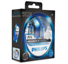 Philips H4 60/55w ColorVision Blue Car Headlight Bulbs (Twin Pack)