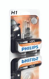 Philips H1 Vision 12V 55W Car Headlight Bulb upto +30% more light