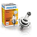 Philips H4 12v 60/55w Vision Car Headlight Bulb +30% More Light