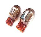 585 WY21W Chrome Amber Indicator Capless Wedge Bulbs