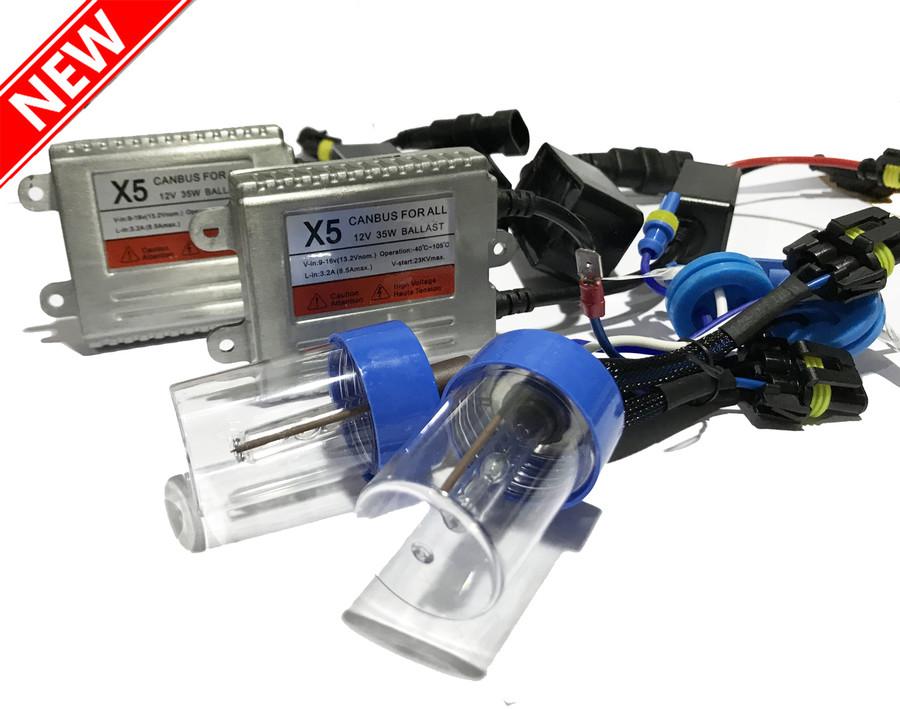 55W H7 H7R Xenon HID Conversion Kit Slim Bulbs Pair For Chrysler