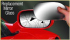 Summit Mirror Glass Replacement SRG-12 Vauxhall Astra Cavalier RHS