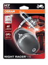 Osram H7 55w Night Racer Plus 110% Motorbike bulbs (Twin Pack) (64210NR1-012)