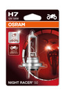 Osram H7 55w Night Racer +50% Motorbike bulb (Single) (64210NR5-01B)