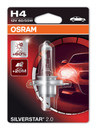 Osram H4 Silverstar 2.0 Extra Life 60/55w Bulb +60% Light (Single) (64193SV2-01B)