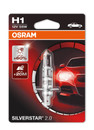Osram H1 55w Silverstar 2.0 Extra Life Bulb +60% Light (Single) (64150SV2-01B)