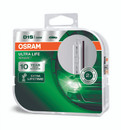 Osram Xenarc Ultra Life 10 YR Guarantee D1S Bulbs - Twin Pack (66140ULT-HCB)