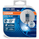 Osram H4 12v 100/90w Cool Blue Boost 5000k Xenon Effect 62193CBB-HCB (Twin Pack) (62193CBB-HCB)