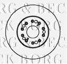 BBD5707S BORG & BECK BRAKE DISC SINGLE fits Lexus GS300, LS400 92-95 Frt (BBD5707S)
