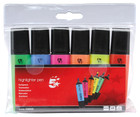 Office Highlighters - Assorted Colours - Pack of 6