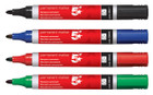 Permanent Marker Pens - Assorted Colours - Pack of 4