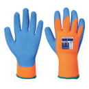 Cold Grip Gloves - Orange/Blue - Medium