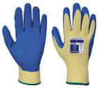 Cut 3 Latex Grip Gloves - Yellow/Blue - Large