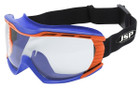 Stealth 9100 Safety Goggles - Clear Lens with Blue & Orange Frame