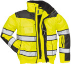 Hi-Vis Bomber Jacket - Yellow/Black - Large