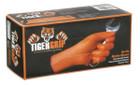 Tiger Grip Orange Nitrile Gloves - Large - Pack of 100
