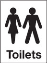 Male & Female Toilets Sign - Rigid Polypropylene - 200mm x 150mm