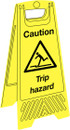 Janitorial Floor Stand - Caution Trip Hazard