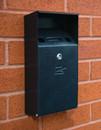 Wall Mountable Compact Cigarette Bin - Black Textured Finish