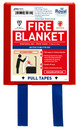 Red & White Fire Blanket - 1.1m x 1.1m
