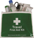 BS Compliant Travel First Aid Kit in Vinyl Wallet