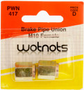 Brake Pipe Unions - Female M10 x 1 Pitch - Pack Of 2